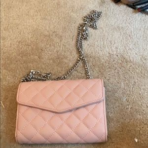 Pink quilted clutch or fanny pack